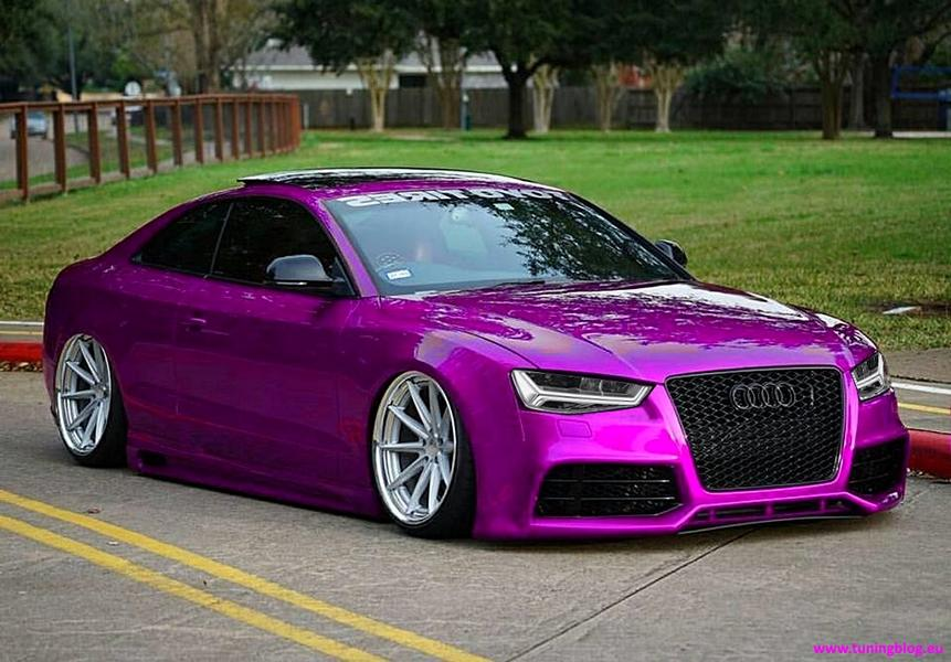 audi coupe rs5 a5 pembe foiling a7 farlar 1 tuningblog. Black Bedroom Furniture Sets. Home Design Ideas