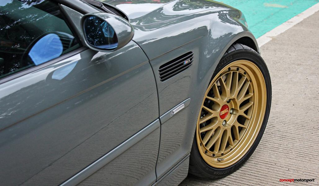 Classic Gray Bmw E46 M3 On Golden Bbs Lm Wheels