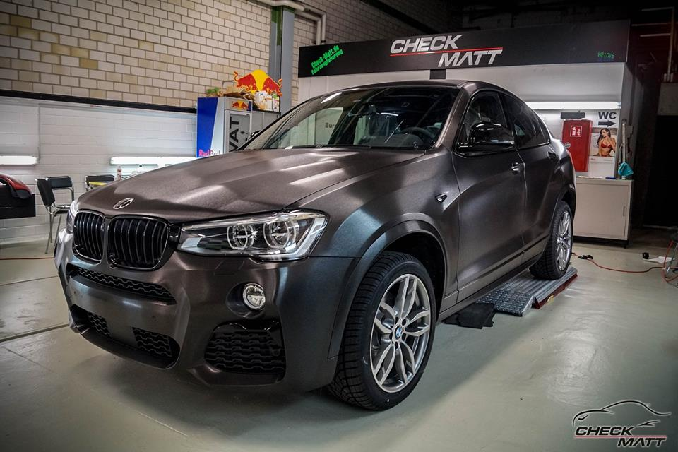 bmw x4 f26 mit brushed black folierung by check matt dortmund. Black Bedroom Furniture Sets. Home Design Ideas