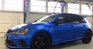 Blau Matt Metallic VW Golf GTI Clubsport Folierung Tuning 5 310x165 Blau Matt Metallic am VW Golf GTI Clubsport von 2M Designs