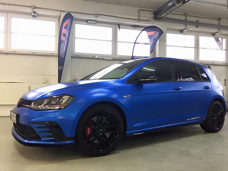 blau matt metallic am vw golf gti clubsport von 2m designs. Black Bedroom Furniture Sets. Home Design Ideas