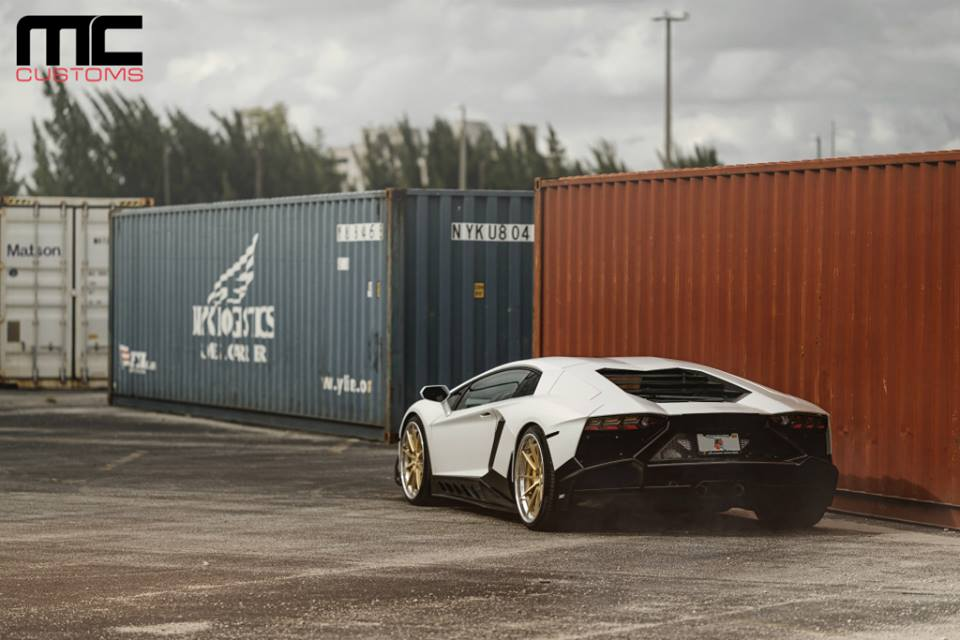 Bodykit Lamborghini Aventador AG Wheels Tuning 2 MC Customs Lamborghini Aventador auf schicken AG Wheels