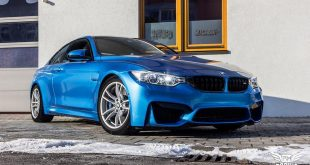 Folierung Vivid Blue Metallic BMW M4 f82 Tuning 16 310x165 Unübersehbar   Ambulance Yellow am VW Golf GTI MK7