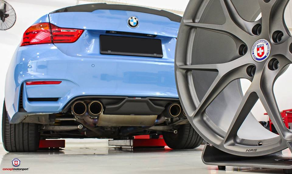 HRE P101 Satin Charcoal Tuning BMW M4 F82 Coupe 2 HRE P101 Alu's in Satin Charcoal am BMW M4 F82 Coupe