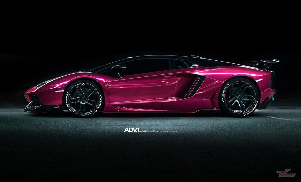 Purple Lamborghini Aventador With Body Kit 21 Inch Aluminum S Advnl2