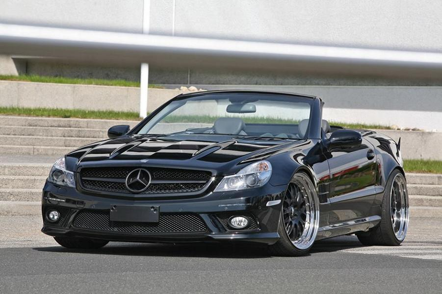 mercedes benz sl 500 r230 als sl65 amg by inden design magazin. Black Bedroom Furniture Sets. Home Design Ideas
