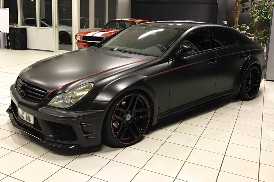 mercedes cls blackedition mit prior design widebody kit. Black Bedroom Furniture Sets. Home Design Ideas