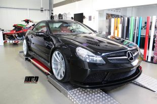 Prior Design Mercedes SL R230 Widebody Tuning 2017 1 310x205 Extrem dezent   Widebody Mercedes SL auf AF 303 Alu's