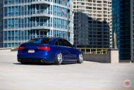 RS6 Optik Audi A6 Tuning Vossen VPS 318 1 190x128 RS6 Optik am blauen Audi A6 mit Vossen VPS 318 Felgen