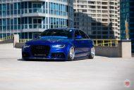 RS6 Optik Audi A6 Tuning Vossen VPS 318 3 190x128 RS6 Optik am blauen Audi A6 mit Vossen VPS 318 Felgen