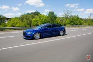RS6 Optik Audi A6 Tuning Vossen VPS 318 4 190x127 RS6 Optik am blauen Audi A6 mit Vossen VPS 318 Felgen