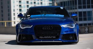 RS6 Optik Audi A6 Tuning Vossen VPS 318 5 310x165 RS6 Optik am blauen Audi A6 mit Vossen VPS 318 Felgen