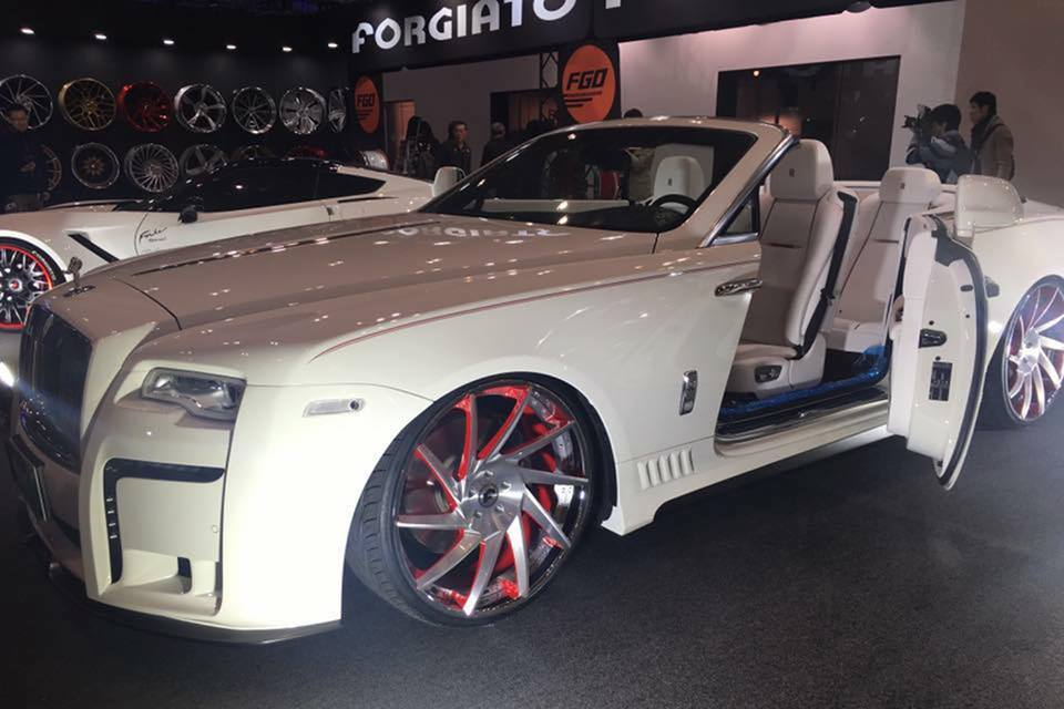 Rolls Royce Dawn Bodykit Forgiato Wheels Tuning 2 Rolls Royce Dawn mit Bodykit und auf Forgiato Wheels Alu's