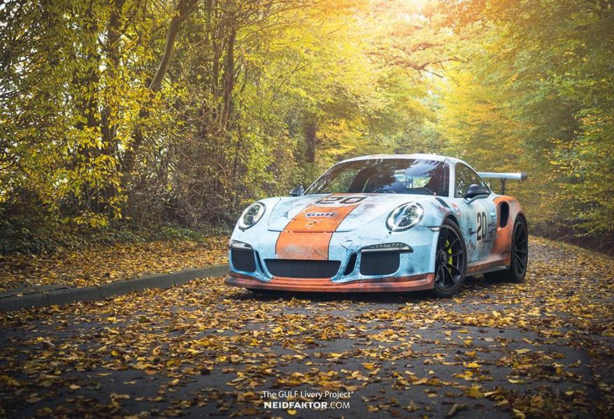 "The GULF Livery Project Porsche 991 GT3 RS Tuning 15 ""The GULF Livery Project""   einzigartiger Porsche 991 GT3 RS"