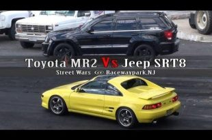 Toyota MR2 gegen Jeep SRT8 2 310x205 Video: Dragrace   Toyota MR2 gegen Jeep SRT8