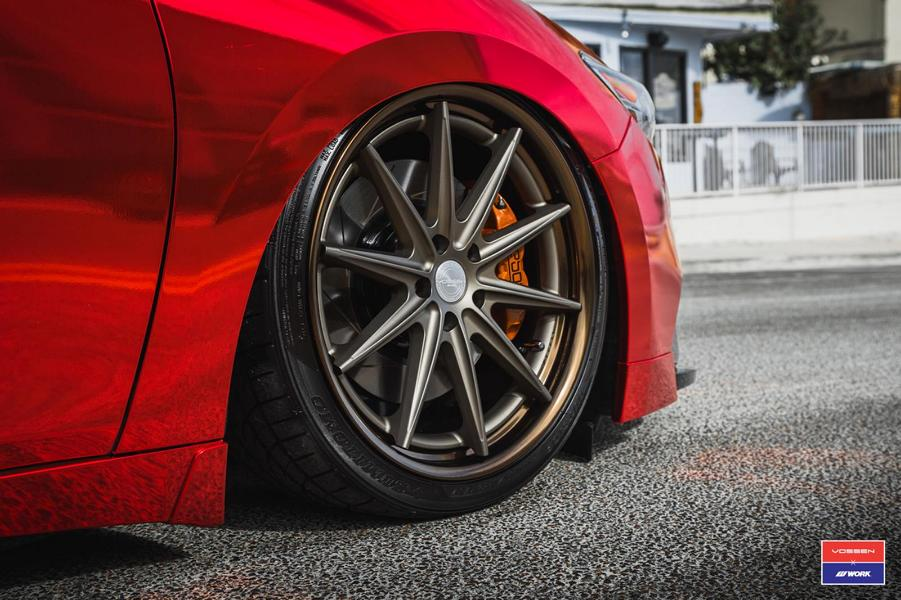 Tuning Nissan Maxima Vossen VWS 1 2017 2 Extrem anders   Roter Nissan Maxima auf Vossen VWS 1 Alu's