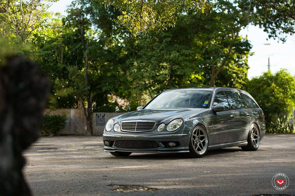 vossen wheels lc 104 mercedes e55 amg w211 tuning 4. Black Bedroom Furniture Sets. Home Design Ideas