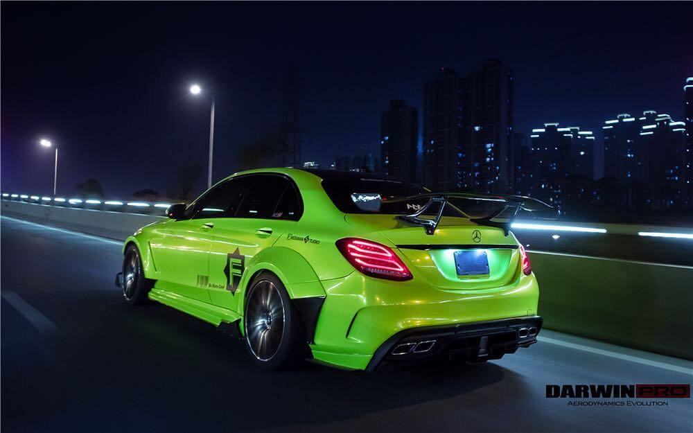 widebody mercedes c63 amg w205 fi sportauspuff darwinpro. Black Bedroom Furniture Sets. Home Design Ideas