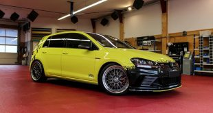 Ambulance Yellow Folierung VW Golf MK7 GTI Tuning 22 310x165 DB Monster   Irrer Mac Audio VW Golf 7 GTI Performance