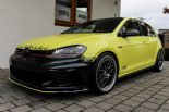 Ambulance Yellow Folierung VW Golf MK7 GTI Tuning 23 155x103 Unübersehbar   Ambulance Yellow am VW Golf GTI MK7