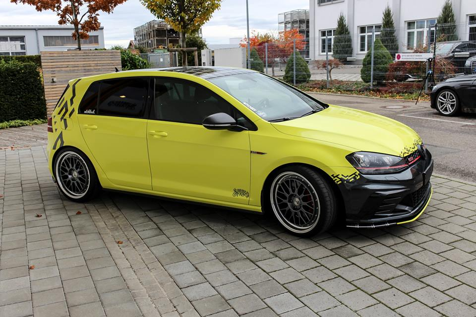 ambulance yellow folierung vw golf mk7 gti tuning 26. Black Bedroom Furniture Sets. Home Design Ideas
