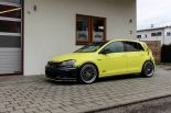 Ambulance Yellow Folierung VW Golf MK7 GTI Tuning 28 155x103 Unübersehbar   Ambulance Yellow am VW Golf GTI MK7