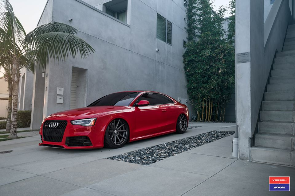 Audi A5 RS5 Coupe Airride Tuning Vossen VFS 1 1 Audi A5 RS5 Coupe mit Airride Fahrwerk & Vossen VFS 1 Alu's