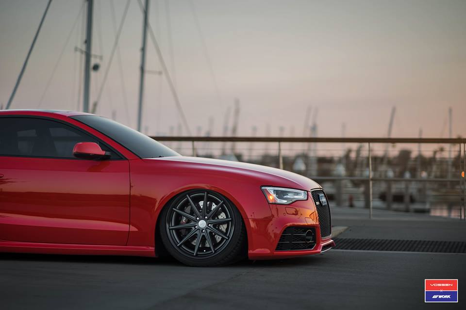 Audi A5 RS5 Coupe Airride Tuning Vossen VFS 1 3 Audi A5 RS5 Coupe mit Airride Fahrwerk & Vossen VFS 1 Alu's