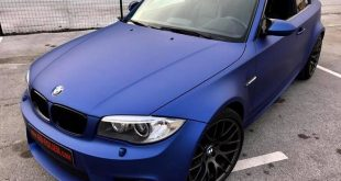BMW 1M E82 Coupe Mattblau Folierung Tuning 25 310x165 BMW E82 1er (135i) mit Clinched Widebody Kit & SevenK Wheels