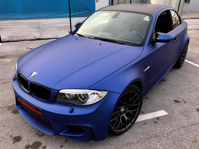 Chic Bmw 1m E82 Coupe In Matt Blue Bb Films