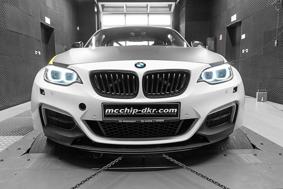 BMW M235i 3.0 Turbo Tracktool Chiptuning 4 Widebody BMW M235i Tracktool mit 392PS by Mcchhip DKR
