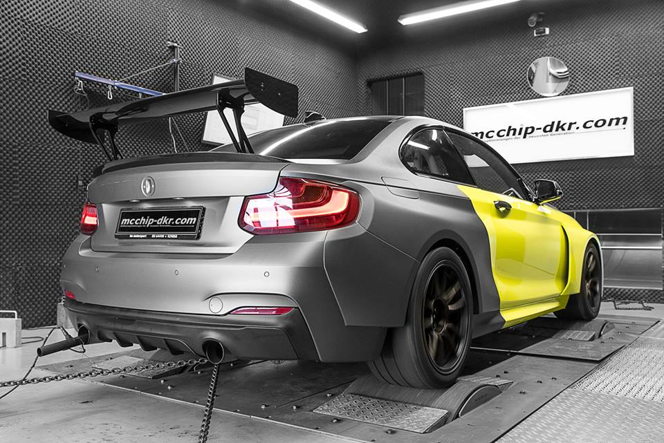 BMW M235i 3.0 Turbo Tracktool Chiptuning 5 Widebody BMW M235i Tracktool mit 392PS by Mcchhip DKR