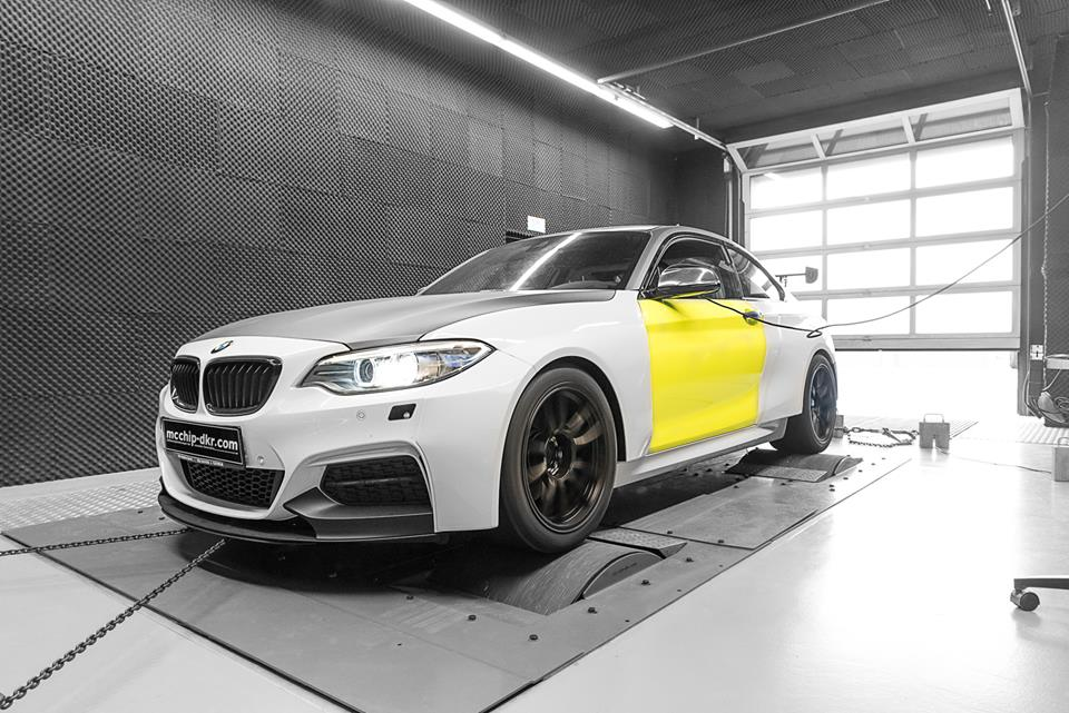 BMW M235i 3.0 Turbo Tracktool Chiptuning 7 Widebody BMW M235i Tracktool mit 392PS by Mcchhip DKR