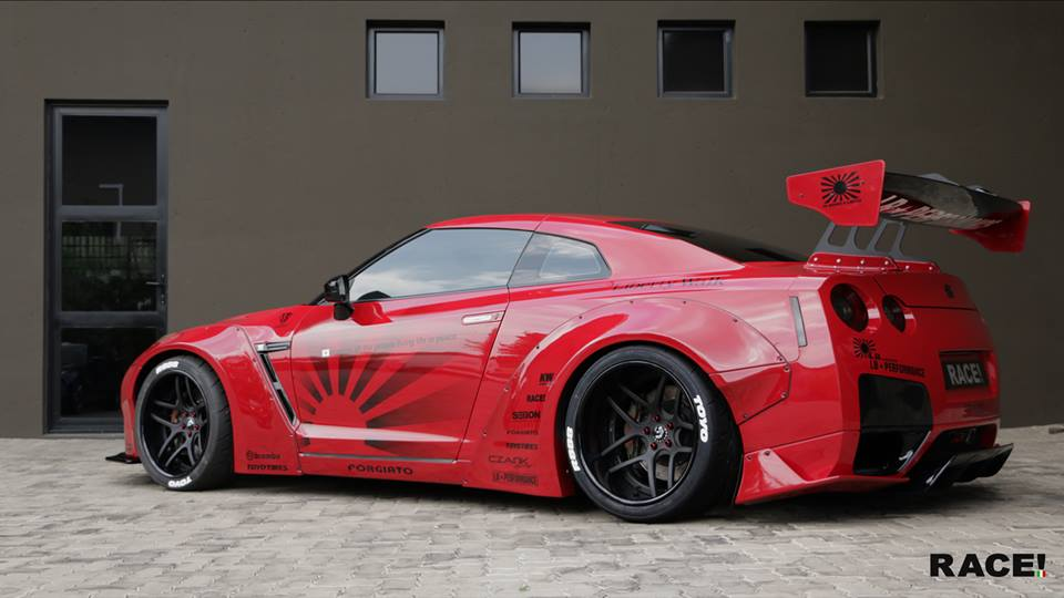 Liberty Widebody Nissan GT R Forgiato Wheels Tuning 1 RACE! South Africa   Nissan GT R Widebody auf Forgiato Wheels