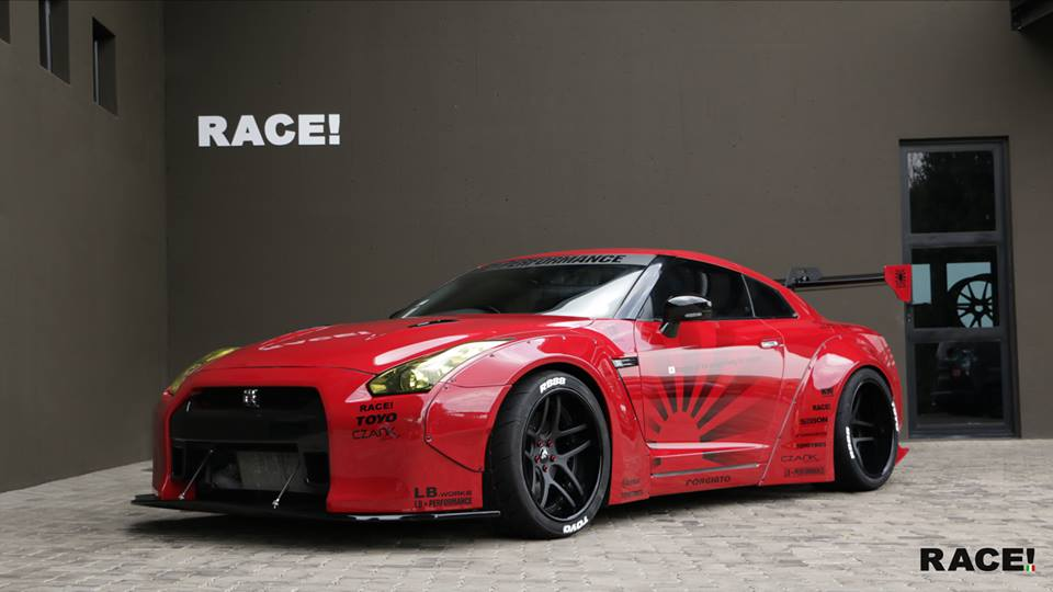 Liberty Widebody Nissan GT R Forgiato Wheels Tuning 2 RACE! South Africa   Nissan GT R Widebody auf Forgiato Wheels