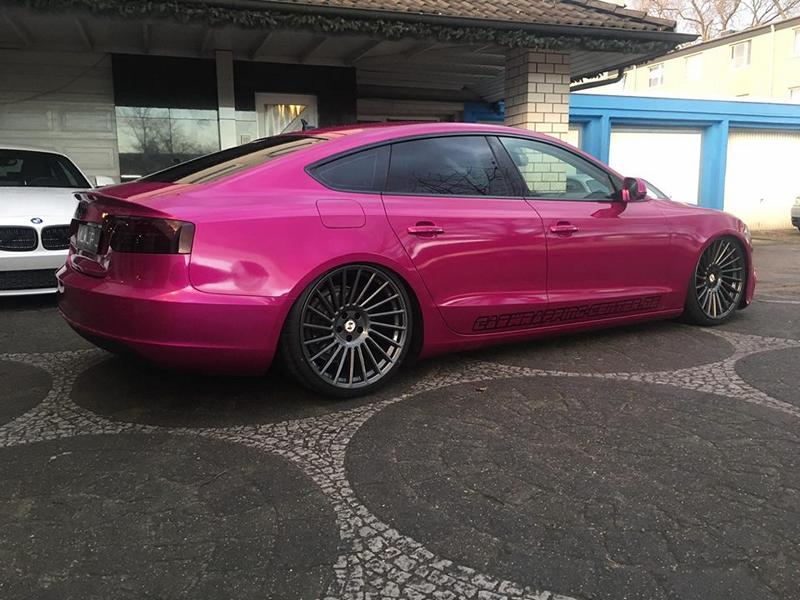 crazy ml concept audi a5 sportback in pink auf 20 zoll magazin. Black Bedroom Furniture Sets. Home Design Ideas