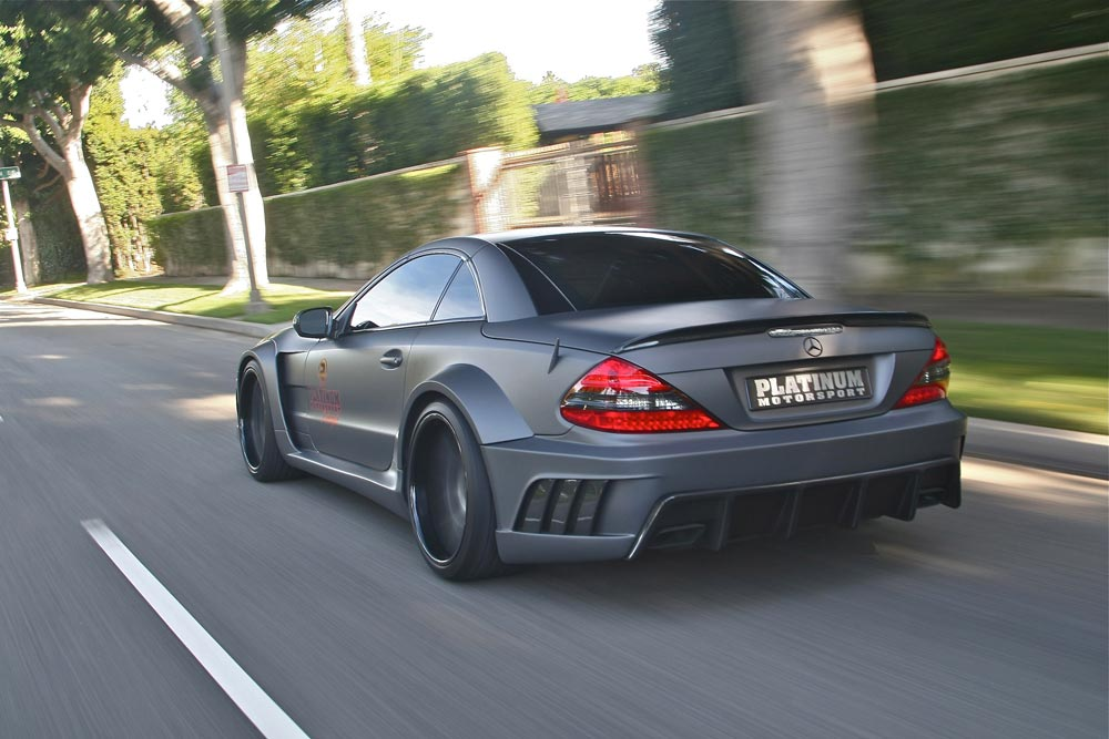 Mercedes SL63 AMG Widebody Platinum Motorsport Tuning 11 Mega fett   Platinum Motorsport Mercedes Benz SL63 AMG