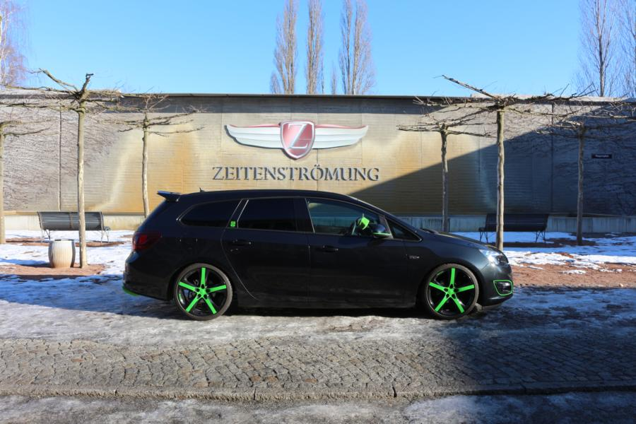 Opel Astra Sports Tourer Tuning 6 Leserauto: Opel Astra Sports Tourer mit grünen Akzenten