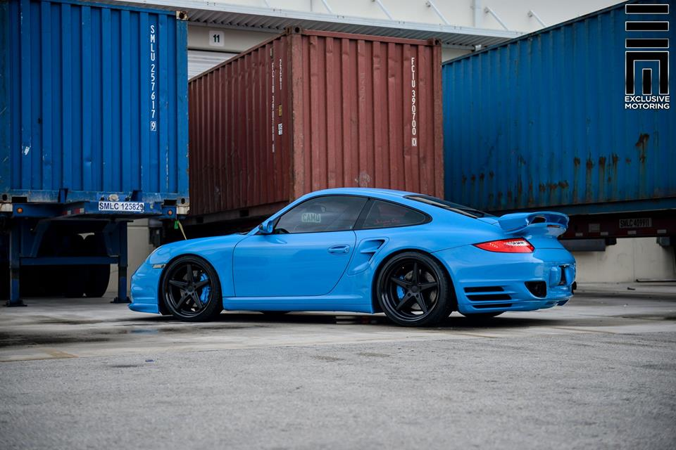 Techart Porsche 997 Facelift Tuning Vossen VWS 3 14 Vossen Wheels VWS 3 Alu's am Porsche 911 (997) Turbo