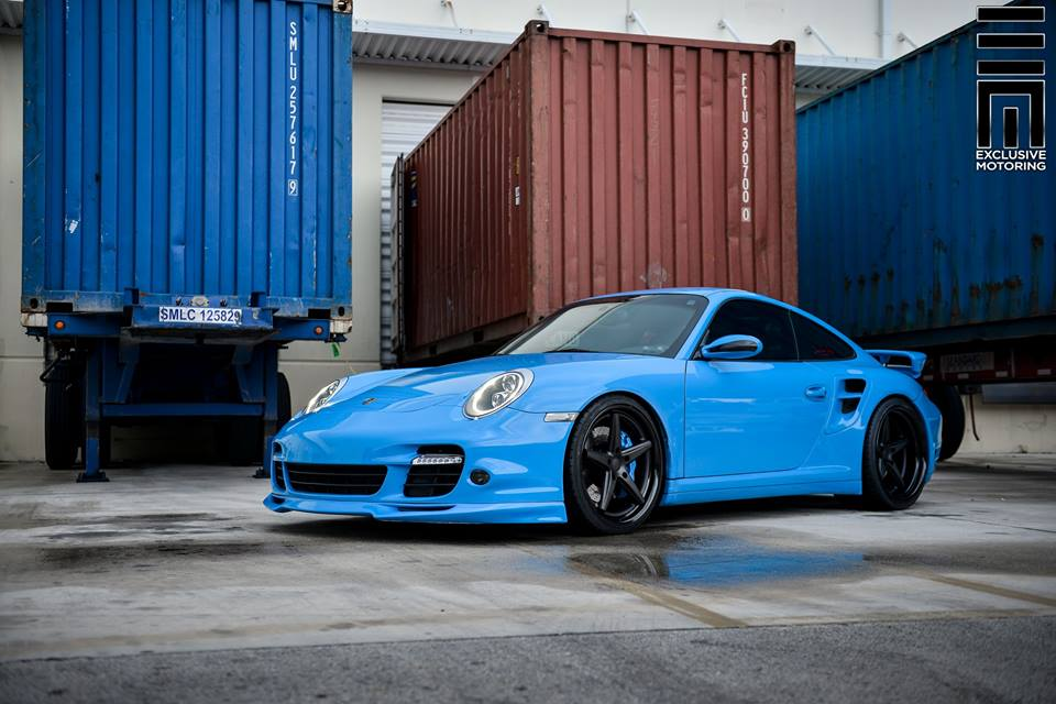 Techart Porsche 997 Facelift Tuning Vossen VWS 3 20 Vossen Wheels VWS 3 Alu's am Porsche 911 (997) Turbo