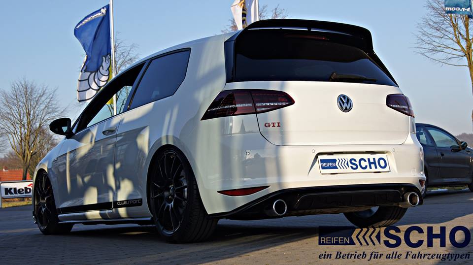 vw golf 7 gti clubsport mit kw v3 fahrwerk oz alu s. Black Bedroom Furniture Sets. Home Design Ideas