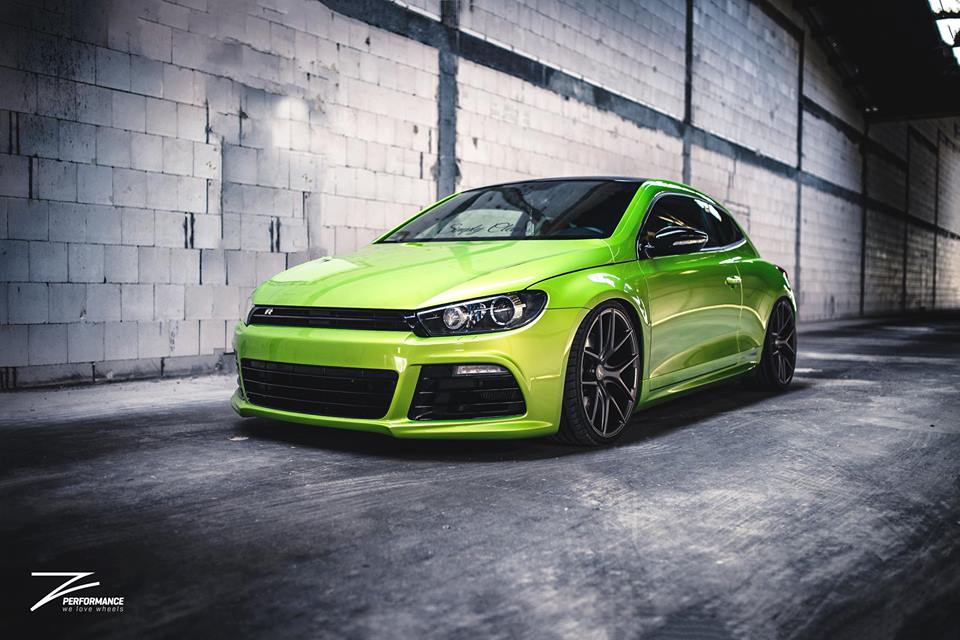 z performance wheels on viper green painted vw scirocco magazine. Black Bedroom Furniture Sets. Home Design Ideas