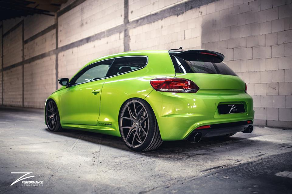 Z Performance Wheels On Viper Green Painted Vw Scirocco