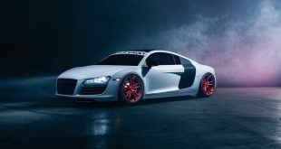 Audi R8 V8 M632 Tuning 4 310x165 Audi R8 V8 auf Avant Garde Wheels M632 Felgen in Apple Candy Red
