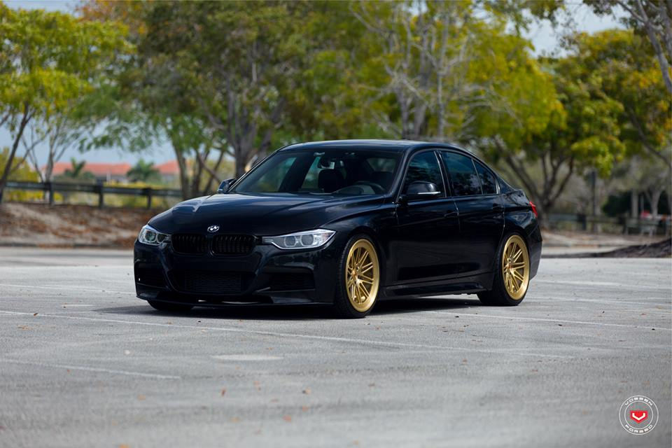 bmw 335i f30 limousine auf vossen lc 107 felgen in gold. Black Bedroom Furniture Sets. Home Design Ideas
