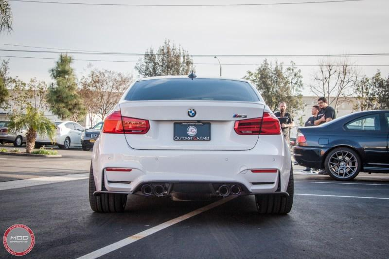 Fat Bmw M3 F80 With Body Kit 20 Inch Stance Sf01 Wheels