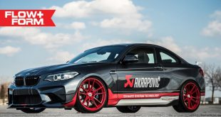 BMW M2 F87 Coupe HRE FF04 Akrapovic Tuning 1 310x165 Sportlich   BMW M2 F87 Coupe auf HRE FF04 Alu's in Rot