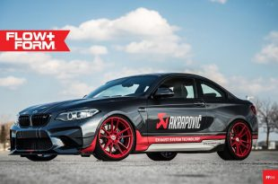 BMW M2 F87 Coupe HRE FF04 Akrapovic Tuning 1 310x205 Sportlich   BMW M2 F87 Coupe auf HRE FF04 Alu's in Rot