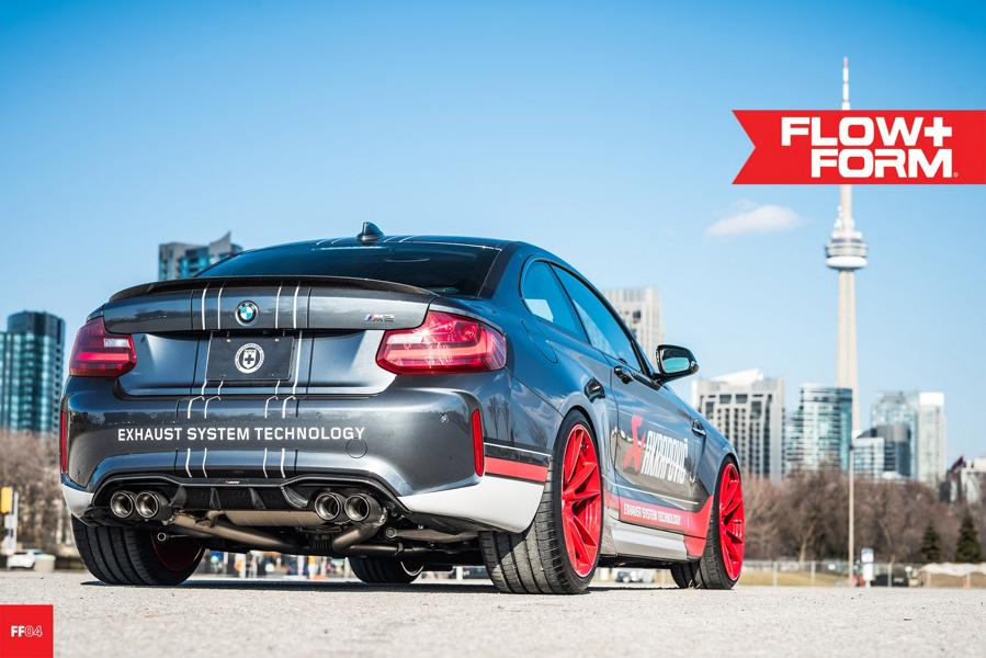 BMW M2 F87 Coupe HRE FF04 Akrapovic Tuning 5 Sportlich   BMW M2 F87 Coupe auf HRE FF04 Alu's in Rot