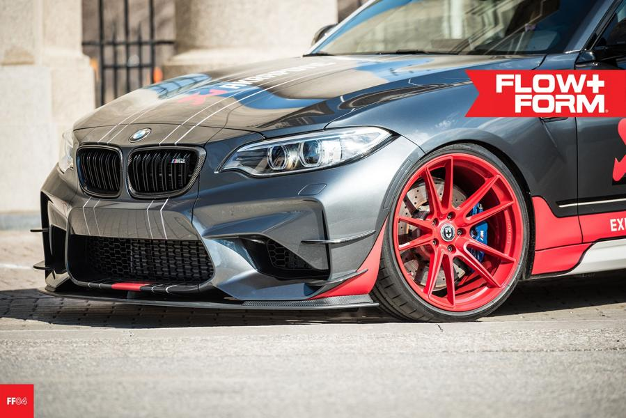 BMW M2 F87 Coupe HRE FF04 Akrapovic Tuning 6 Sportlich   BMW M2 F87 Coupe auf HRE FF04 Alu's in Rot